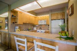 Papakea J103-Kitchen with bar area - Lahaina - Hawaii